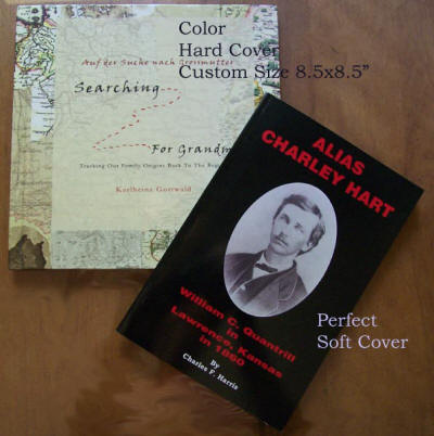 Color hard cover and Perfect soft cover