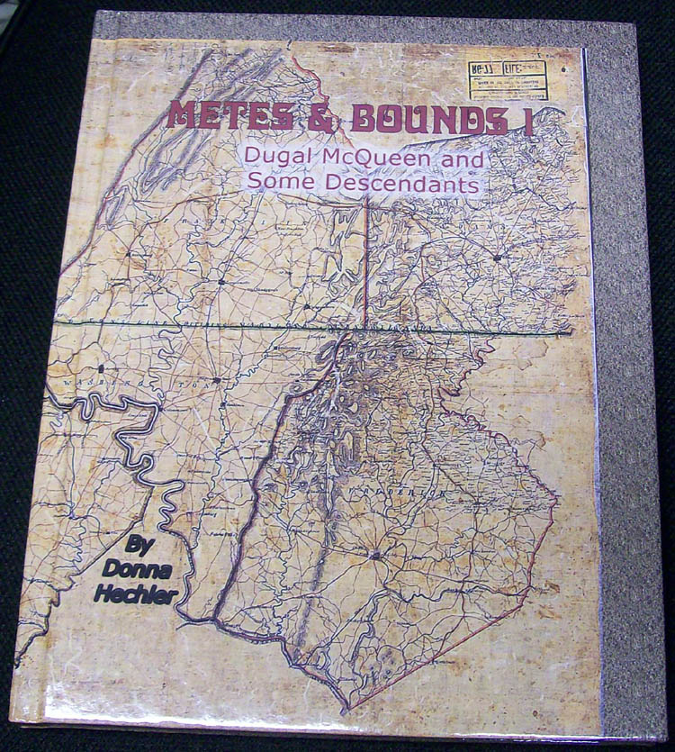 Metes & Bounds - McQueen by Porter - hard cover edition