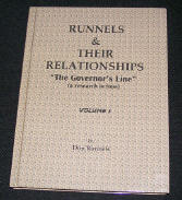 "Runnels & Their Relationships, ""The Governor's Line"" Front Color Cover"