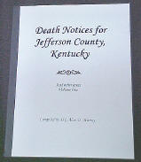 Jefferson Co., KY Death Notices V1 cover photo