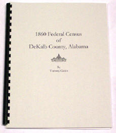 1860 Federal Census of DeKALB County, Alabama