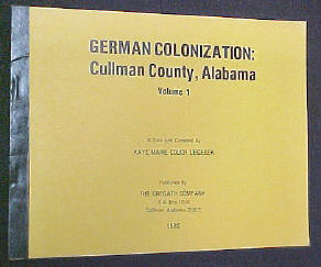 German Colonozation, Cullman, Alabama Book - tape and staple softbound
