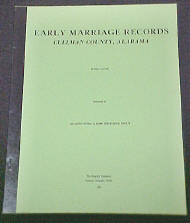 Marshall Co., Alabama Marriage Records Book - tape and staple softbound
