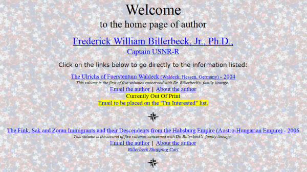 Billerbeck author home page