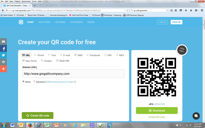 create a qr code for a website free