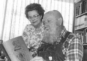 Founder, Ann Gregath and Major Stovall, then Editor of the Stovall Journal