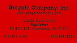 Red kromecoat thermographed card